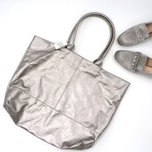 SAKS Fifth Avenue Silver Tote Bag